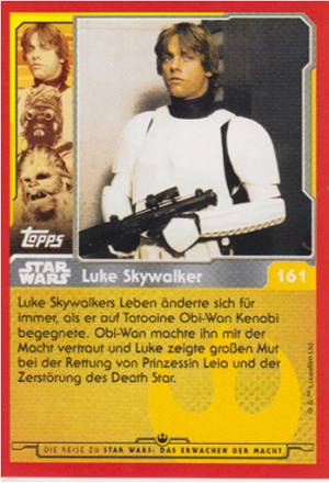 Force Attax Journey to Star Wars Rückseite