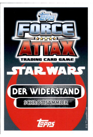 Force Attax Movie Serie 4 EXTRA Rückseite