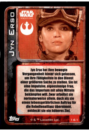 Force Attax Rogue One Rückseite