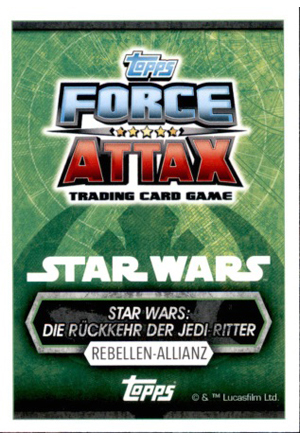 Force Attax Star Wars Universe Rückseite