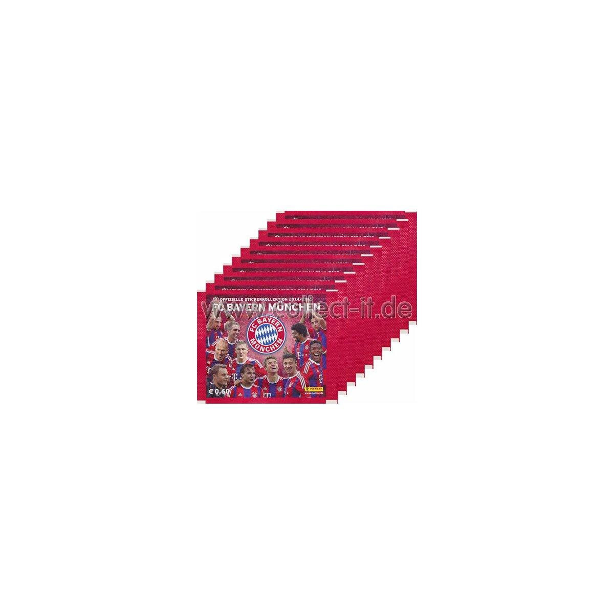 FC Bayern München Stickerkollektion 2014//15-10 Tüten Panini