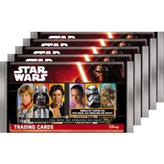 TOPPS - Star Wars - Journey to Star Wars - 5 Booster - Deutsch