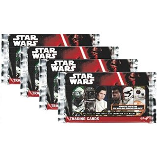 TOPPS - Journey to Star Wars: The Force awakens - 4x Booster mit je 10 Karten pro Packung DEUTSCH