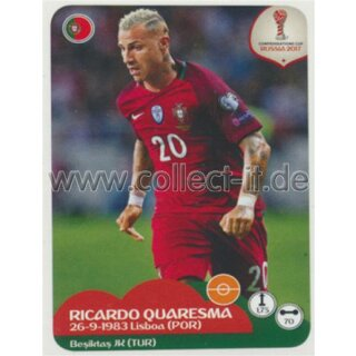 Confederations Cup 2017 - Sticker 100 - Ricardo Quaresma