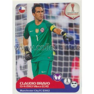 Confederations Cup 2017 - Sticker 179 - Claudio Bravo