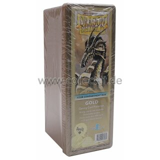 Dragon Shield - Four Compartment Card Box - Gold