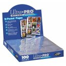 100 Ultra Pro 9-Pocket Silver Series Pages Ordnerseiten...