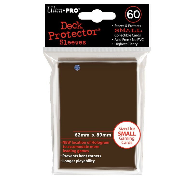Ultra Pro - Deck Protector Sleeves - Solid Brown (60 Stk.)