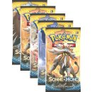 Pokemon Sonne & Mond Serie 1 - 5 Booster - Deutsch