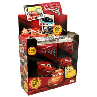 Disney Cars 3 Trading Cards - 1 Display (36 Booster) - Deutsch
