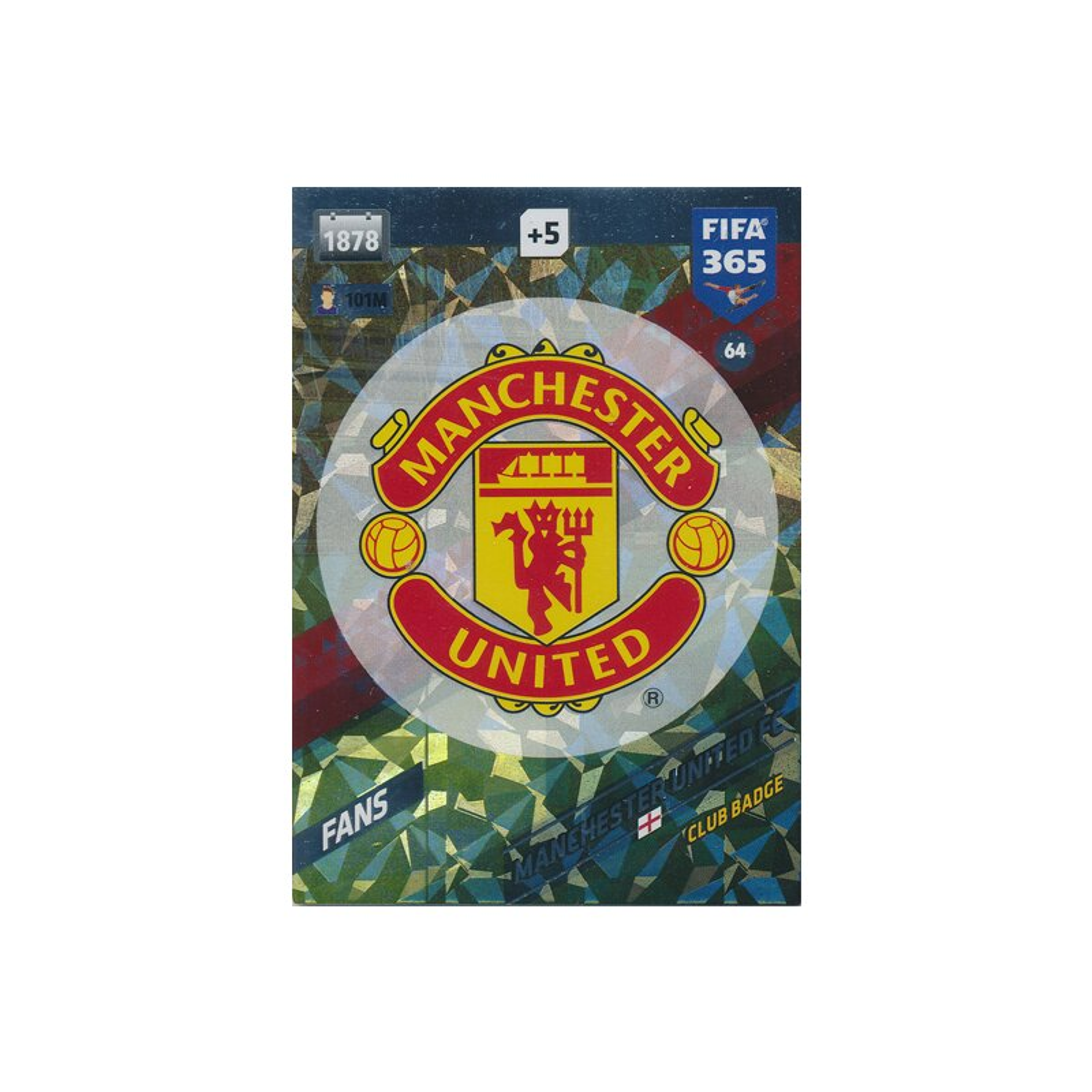 fifa 365 cards 2018 064 manchester united fc badge manchester u. Black Bedroom Furniture Sets. Home Design Ideas