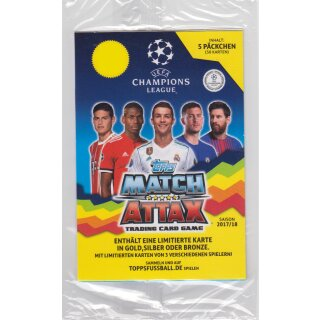 TOPPS - Champions League 2017/18 - Trading Cards - 1 Blister - Deutsch