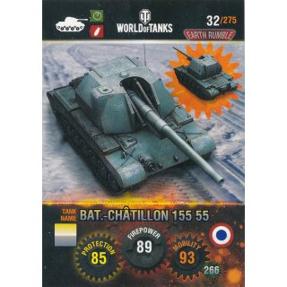 Nr. 32 - World of Tanks - BAT.-Chatillon 155 55 - Nation und Tank cards