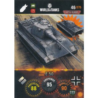 Nr. 46 - World of Tanks - E 50 - Nation und Tank cards