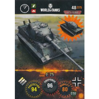 Nr. 48 - World of Tanks - E 75 - Nation und Tank cards