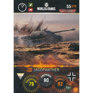 Nr. 55 - World of Tanks - Jagdpanther - Nation und Tank cards