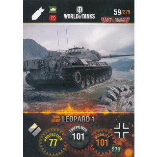 Nr. 59 - World of Tanks - Leopard 1 - Nation und Tank cards