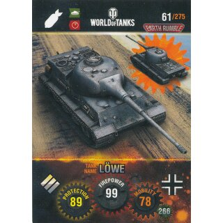 Nr. 61 - World of Tanks - Lowe - Nation und Tank cards