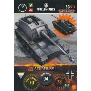Nr. 83 - World of Tanks - Storer Emil - Nation und Tank cards