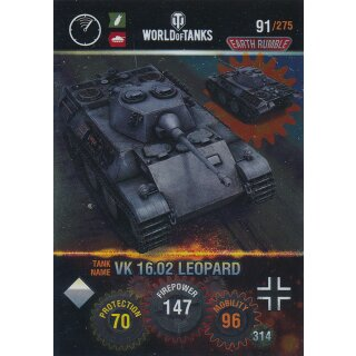 Nr. 91 - World of Tanks - VK 16.02 Leopard (Metal card) - Nation und Tank cards