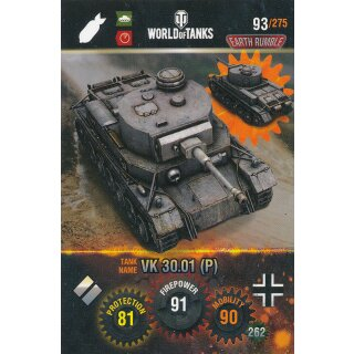 Nr. 93 - World of Tanks - VK 30.01 (P) - Nation und Tank cards