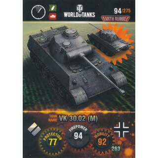 Nr. 94 - World of Tanks - VK 30.02 (M) - Nation und Tank cards
