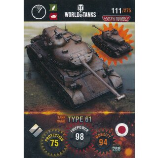 Nr. 111 - World of Tanks - Type 61 - Nation und Tank cards