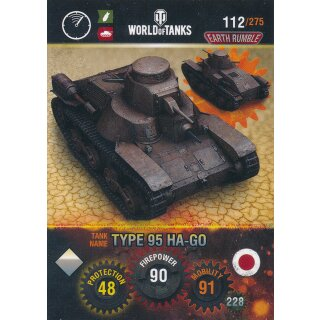 Nr. 112 - World of Tanks - Type 95 HA-GO - Nation und Tank cards
