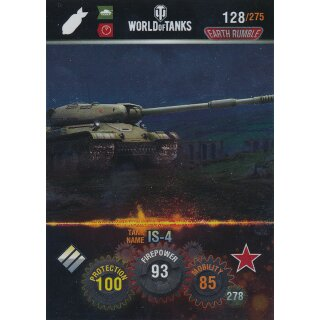 Nr. 128 - World of Tanks - IS-4 (Metal card) - Nation und Tank cards
