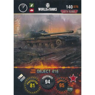 Nr. 140 - World of Tanks - Object 416 - Nation und Tank cards