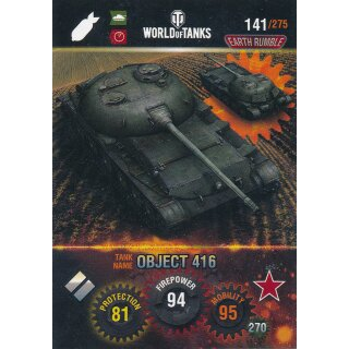 Nr. 141 - World of Tanks - Object 416 - Nation und Tank cards