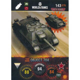 Nr. 143 - World of Tanks - Object 704 - Nation und Tank cards