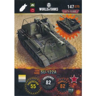Nr. 147 - World of Tanks - SU-122A - Nation und Tank cards