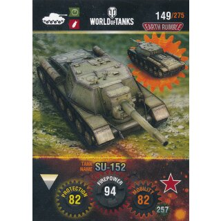 Nr. 149 - World of Tanks - SU-152 - Nation und Tank cards
