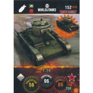 Nr. 152 - World of Tanks - T-26 - Nation und Tank cards