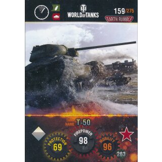 Nr. 159 - World of Tanks - T-50 - Nation und Tank cards