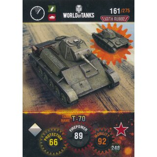 Nr. 161 - World of Tanks - T70 - Nation und Tank cards