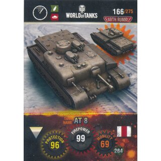 Nr. 166 - World of Tanks - AT 8 - Nation und Tank cards