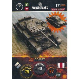 Nr. 171 - World of Tanks - Comet - Nation und Tank cards