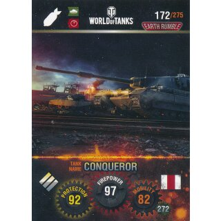 Nr. 172 - World of Tanks - Conqueror - Nation und Tank cards