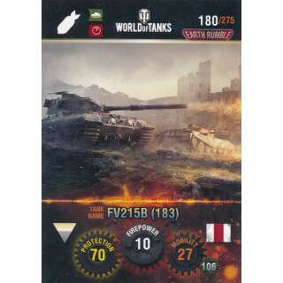 Nr. 180 - World of Tanks - FV215B (183) - Nation und Tank cards