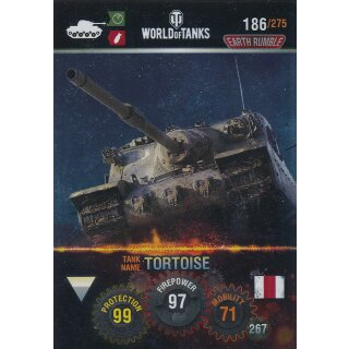 Nr. 186 - World of Tanks - Tortoise (Metal card) - Nation und Tank cards