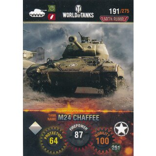 Nr. 191 - World of Tanks - M24 Chaffee - Nation und Tank cards