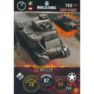 Nr. 193 - World of Tanks - M3 Lee - Nation und Tank cards