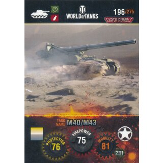 Nr. 196 - World of Tanks - M40/M43 - Nation und Tank cards