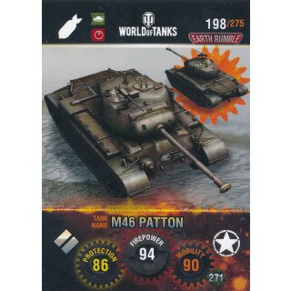 Nr. 198 - World of Tanks - M46 Patton - Nation und Tank cards