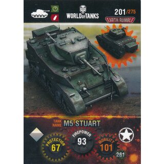 Nr. 201 - World of Tanks - M5 Stuart - Nation und Tank cards