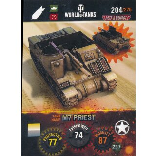 Nr. 204 - World of Tanks - M7 Priest - Nation und Tank cards