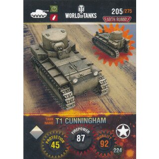 Nr. 205 - World of Tanks - T1 Cunningham - Nation und Tank cards