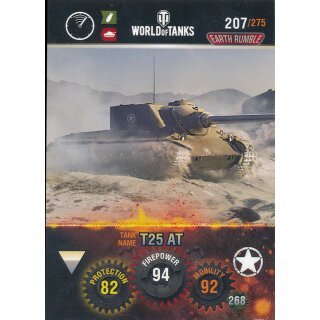 Nr. 207 - World of Tanks - T25 AT - Nation und Tank cards